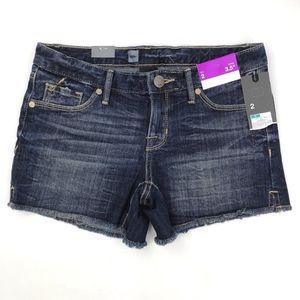 Mossimo Womens Denim Cutoff Shorts Size 2